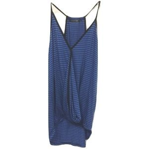 😀 New Papermoon Blue Black Stripe Tank Top